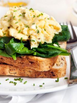 Spinach & Fetta Scrambled Eggs