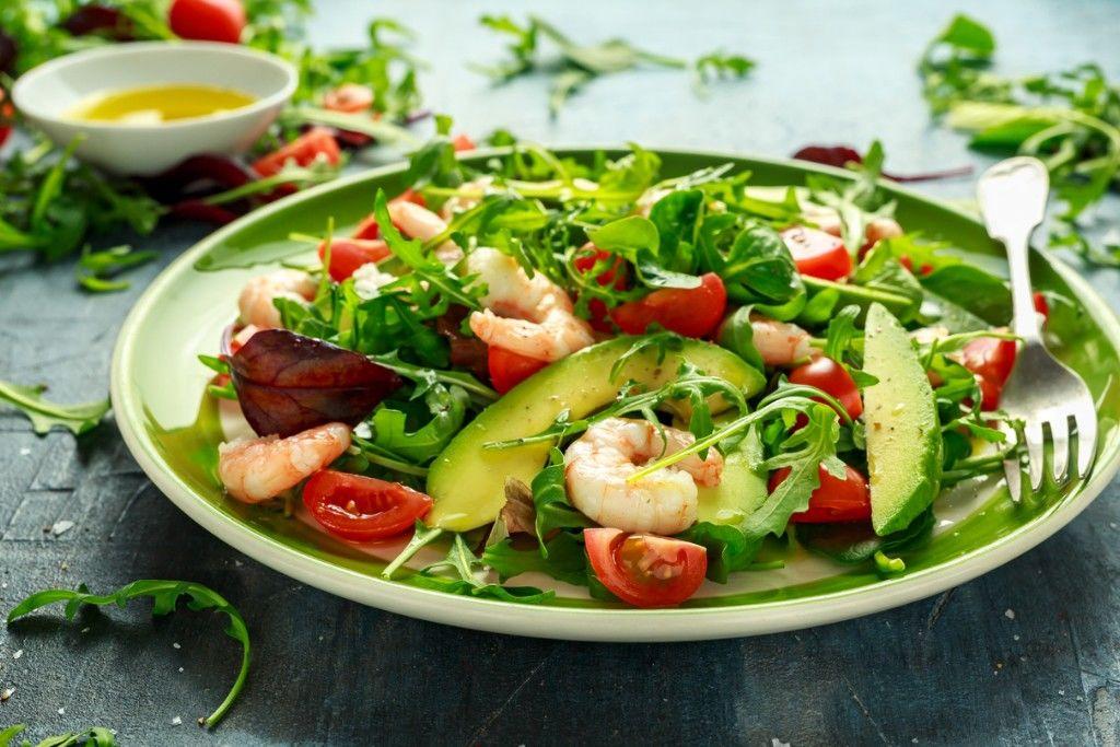 Garlic and Chilli Prawn Salad